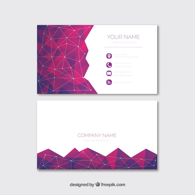 Geometric business card with modern style Free Vector
