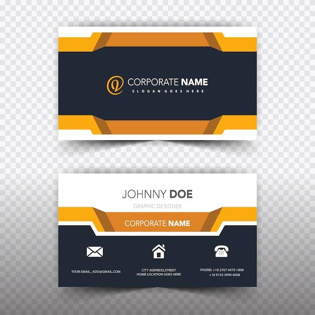 Geometric business card Free Vector