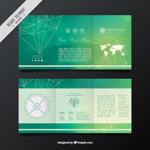 Geometric business flyer in green tones