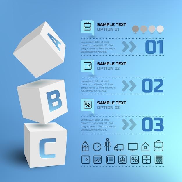 Infografica affari geometrici Vettore gratuito
