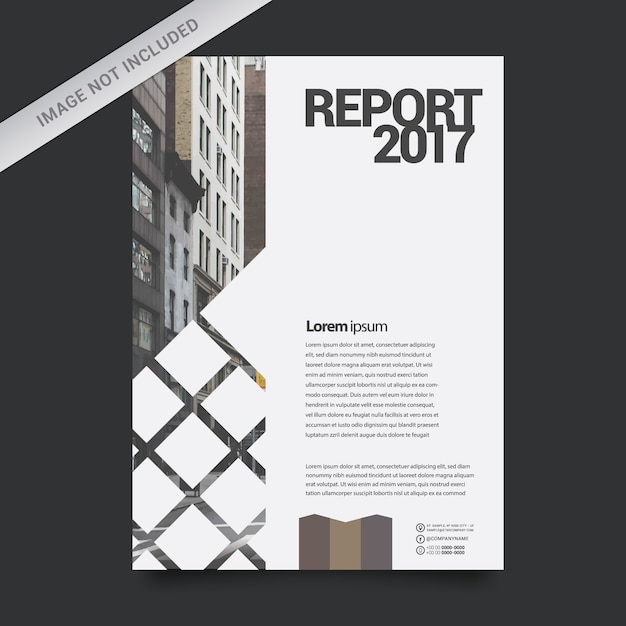 Geometric Business Report Template Vector  Free Download