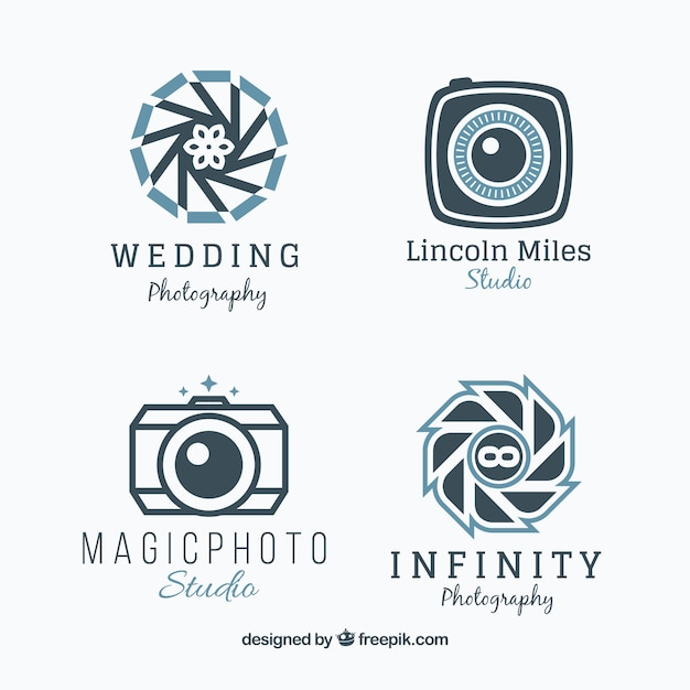 Geometric camera logo collection