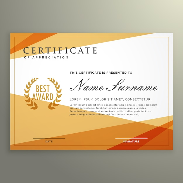 Geometric certificate design template vector free download geometric certificate design template free vector yadclub Choice Image