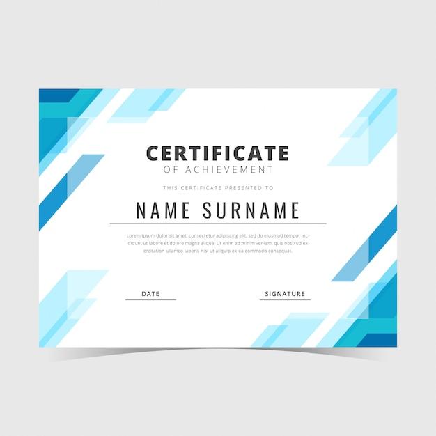 Geometric certificate template Premium Vector