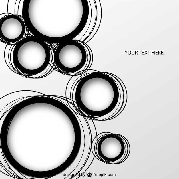 Geometric circles background vector free download for Black circle vector