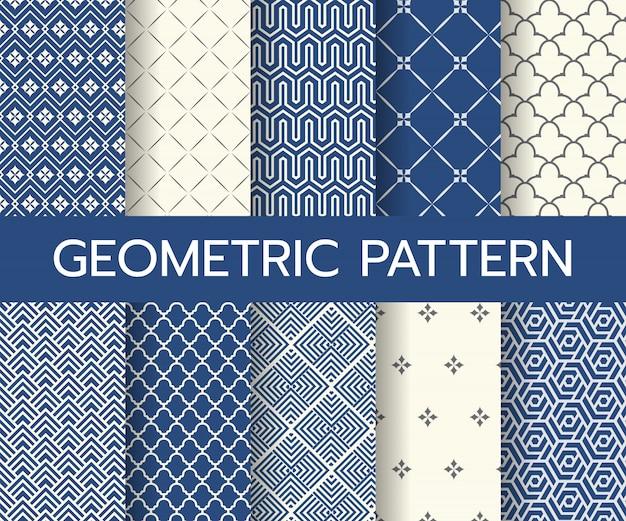 Geometric classic patterns Premium Vector