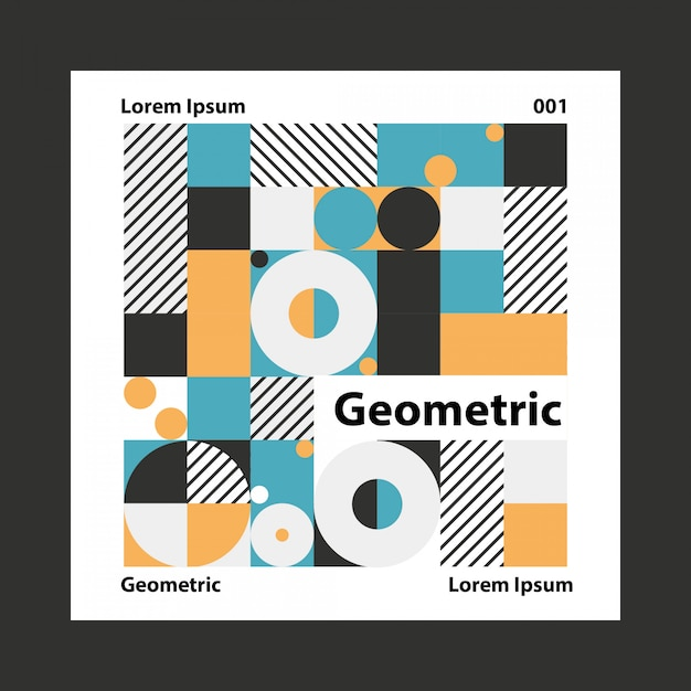 幾何学的なカラフルな背景 Premiumベクター