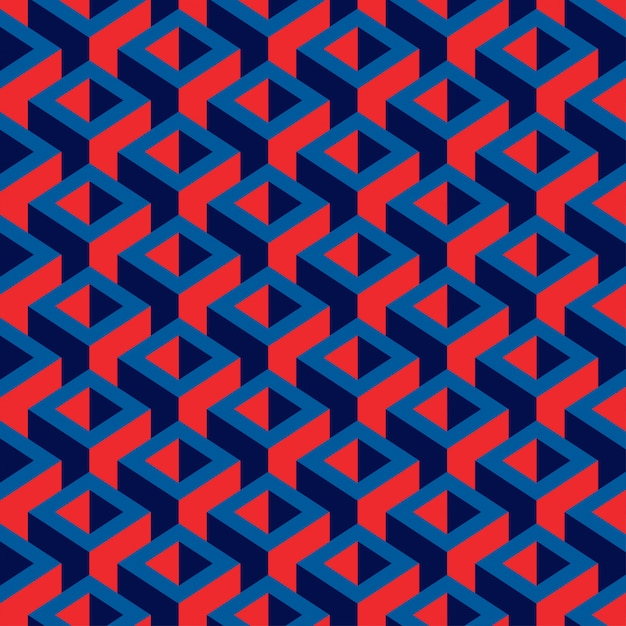 Geometric colorful cube pattern Premium Vector