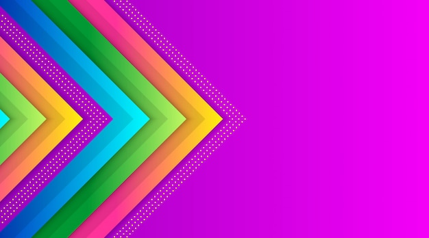Geometric colorful gradient background template Premium Vector
