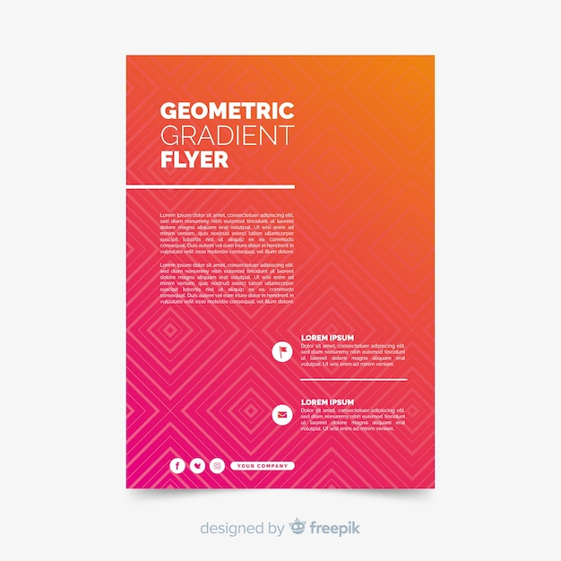 Geometric colorful gradient poster collection Free Vector