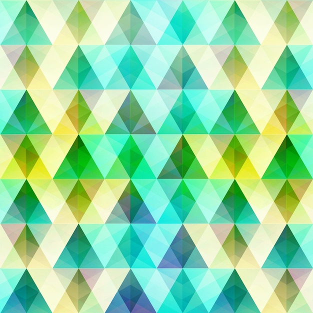 Geometric colorful template with triangular and diamond crystal shapes in mosaic grid style illustration Free Vector