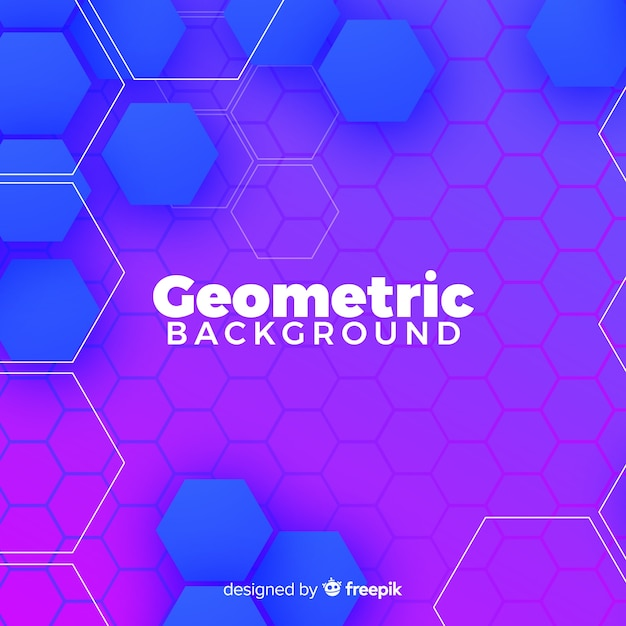 Geometric colroful background Free Vector