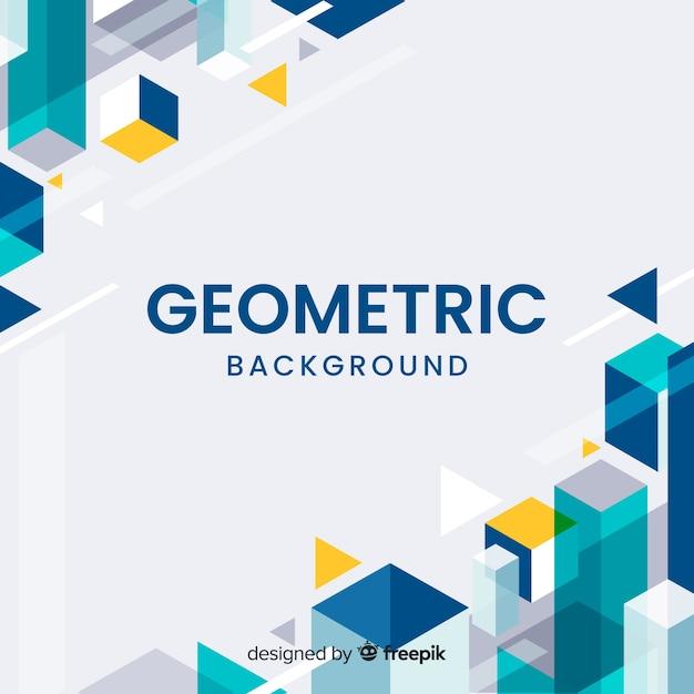 Geometric corners background Free Vector