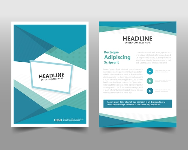 Book Cover Freepik : Geometric corporate book cover concept vector free download