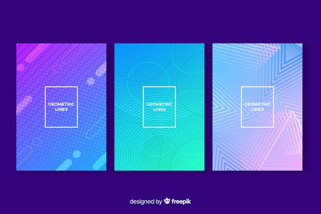 Geometric cover collection Free Vector