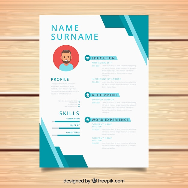 geometric cv design vector