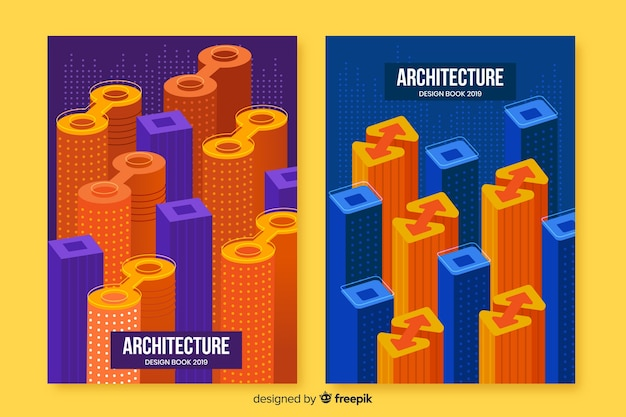 Geometric design covers with blocks Free Vector