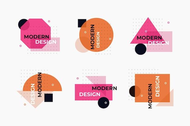 기하학적 디자인 그래픽 디자인 레이블 무료 벡터