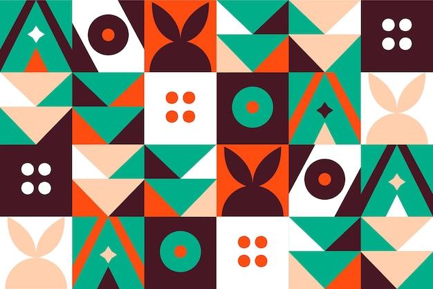 幾何学的なデザインの壁画の壁紙 無料ベクター
