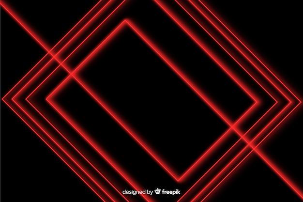 幾何学的なデザインの赤いライトの背景 無料ベクター