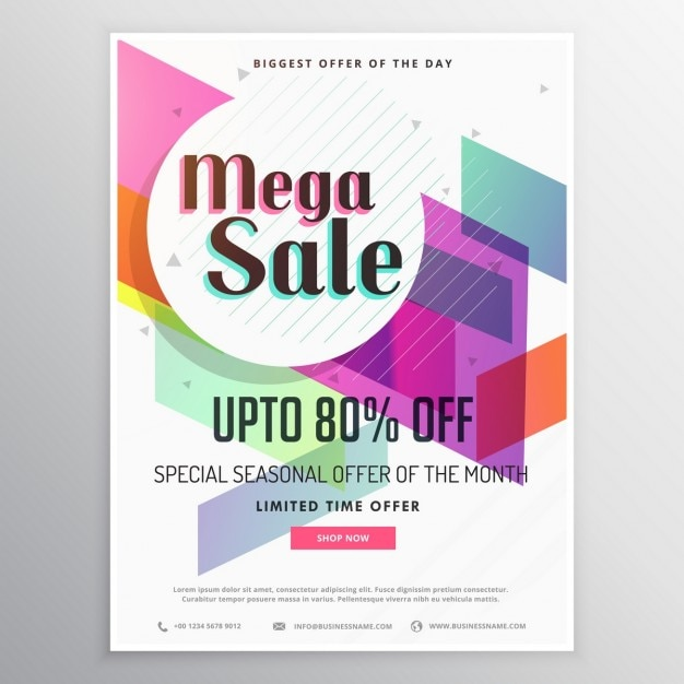 Geometric discount voucher Vector – Shop Discount Vouchers