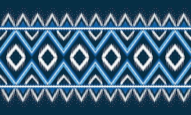 背景に伝統的な幾何学的なエスニックオリエンタルイカットパターン Premiumベクター