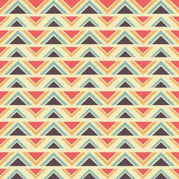 Geometric ethnic pattern Free Vector