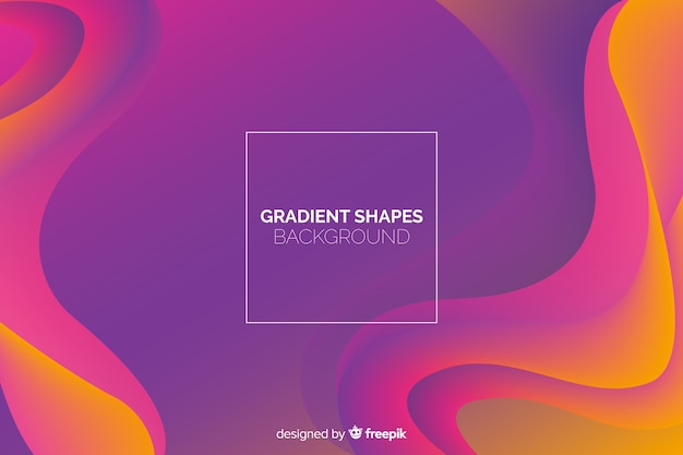 Geometric fluid shapes background Free Vector