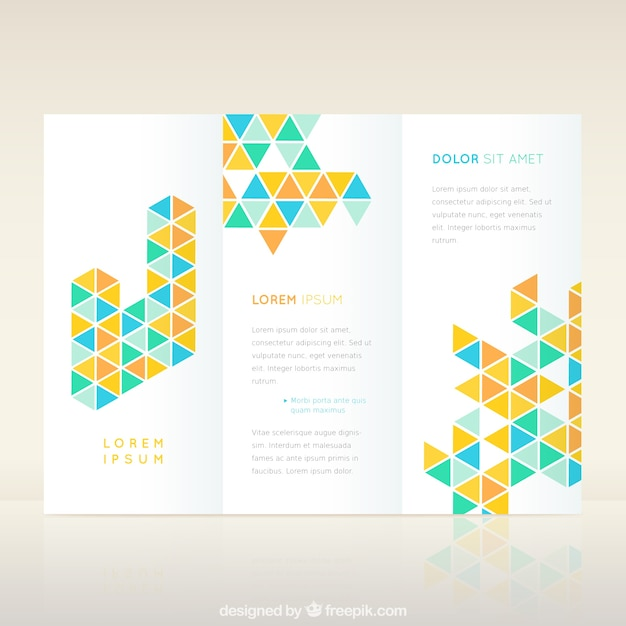 Geometric Flyer Template Vector  Free Download
