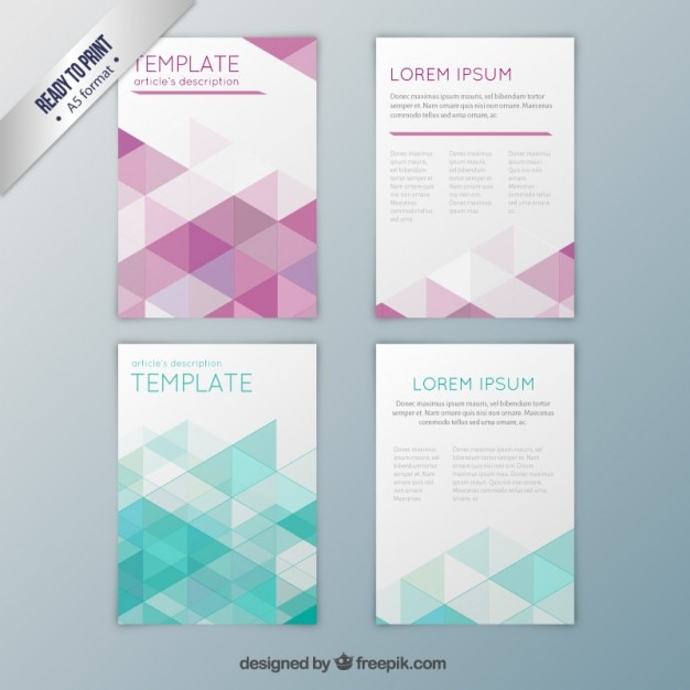 Geometric Flyers Vector  Free Download