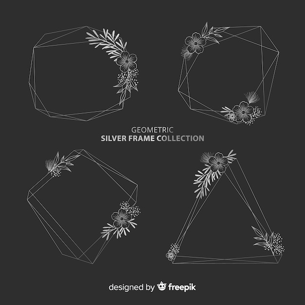 Geometric frame collection Free Vector