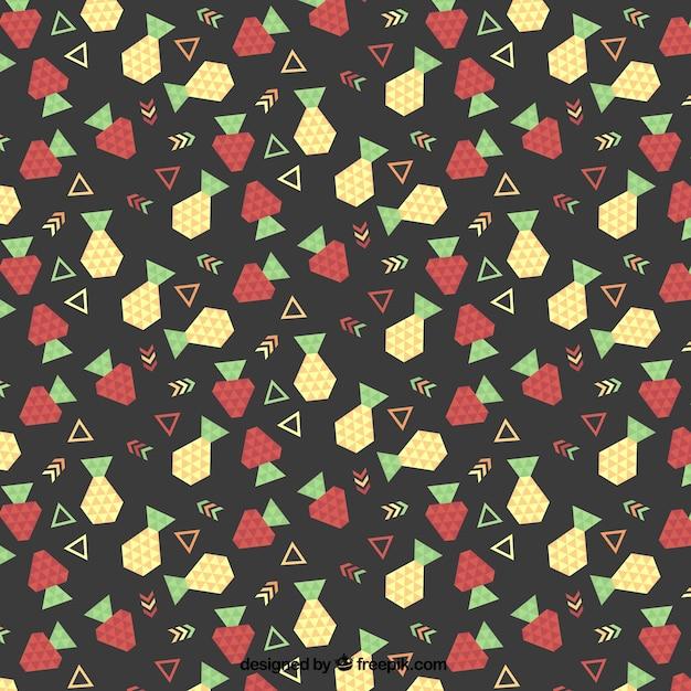 Geometric fruit pattern Free Vector