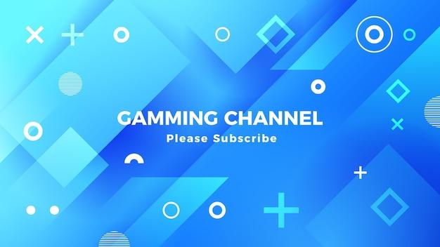 Геометрический игровой канал на youtube Premium векторы