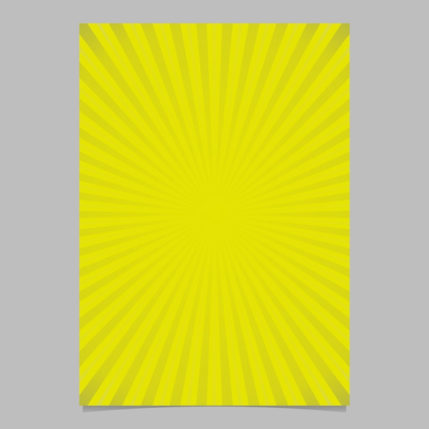 Geometric gradient abstract sun rays brochure cover template - vector page background illustration with radial stripes Free Vector