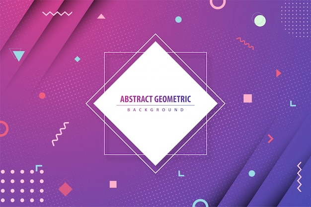 Geometric gradient colorful abstract background Premium Vector
