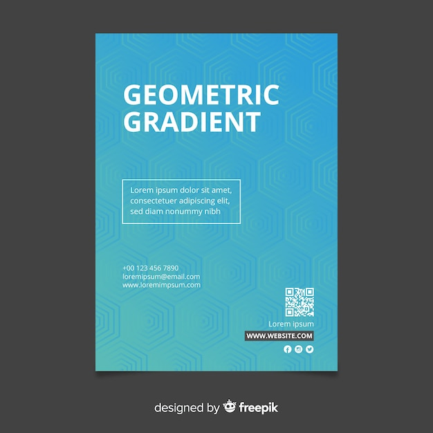 Geometric gradient poster template Free Vector