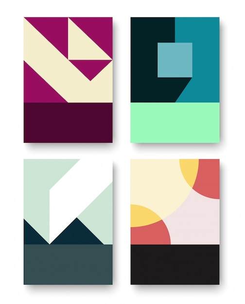 geometric graphic background Free Vector