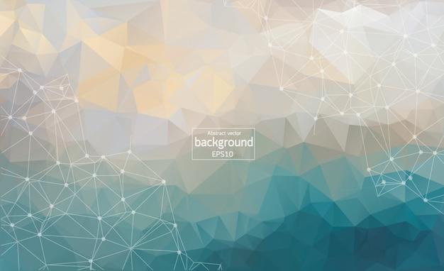 Geometric graphic background Premium Vector