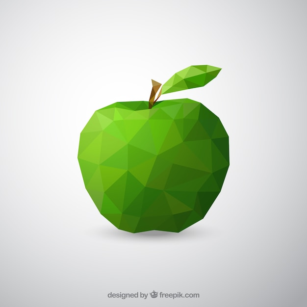 Geometric green apple Free Vector