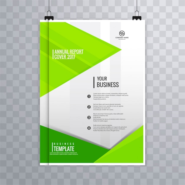 Geometric green business brochure