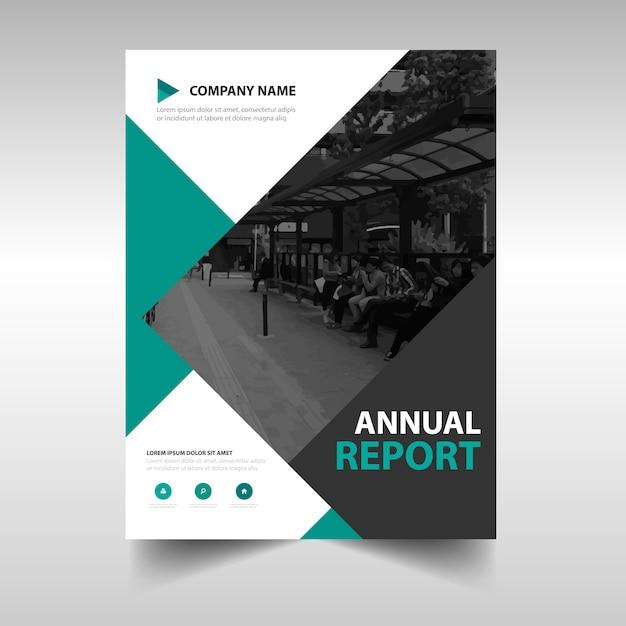 Geometric green business flyer template