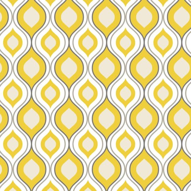 Geometric groovy pattern Free Vector