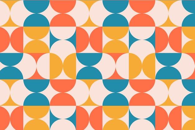 Motivo geometrico groovy Vettore gratuito