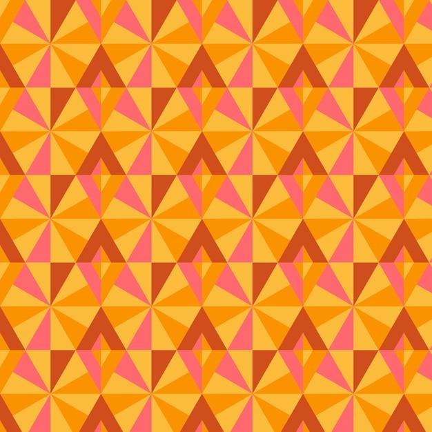 幾何学的なグルーヴィーなパターン 無料ベクター