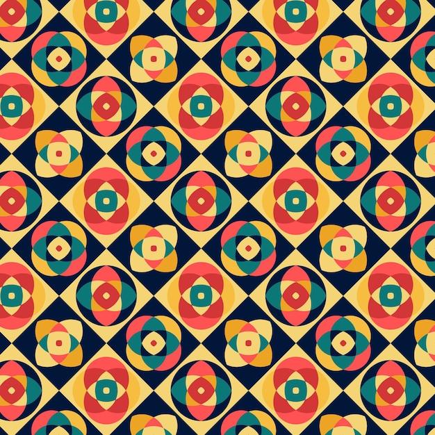 기하학적 그루비 패턴 무료 벡터