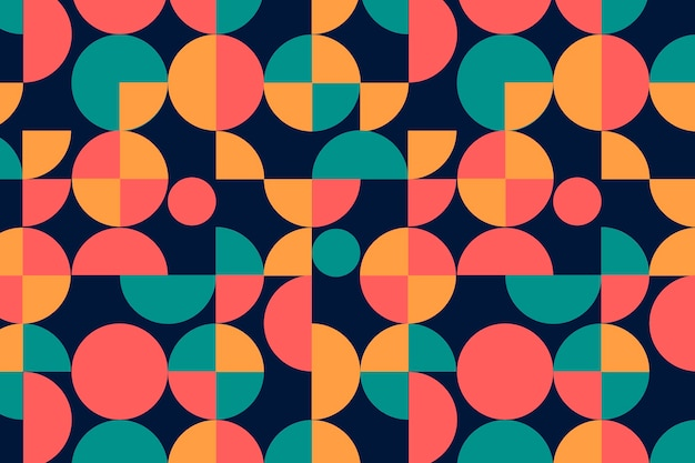 Geometric groovy seamless pattern Free Vector