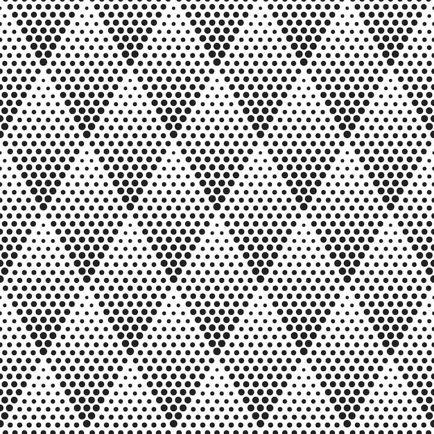 Geometric halftone seamless pattern vector Premium Vector