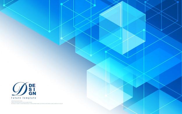 幾何学的な六角形の技術の抽象的な背景 Premiumベクター