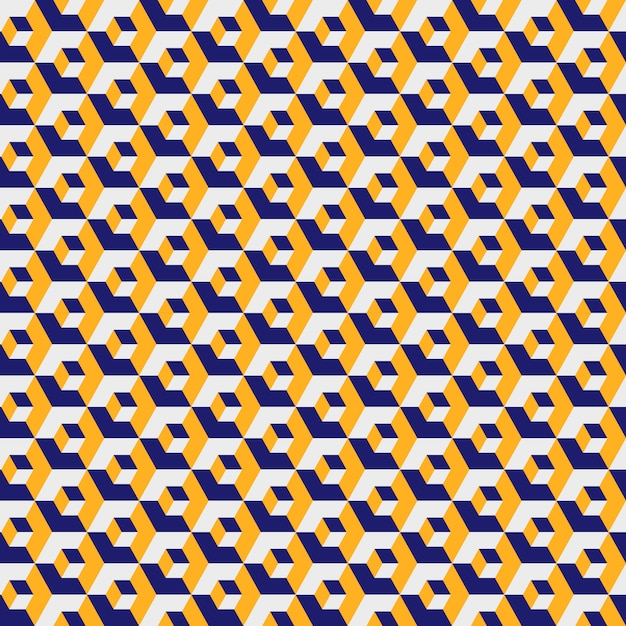 Geometric hexagonal pattern, yellow color grid texture. seamless hexagon Premium Vector