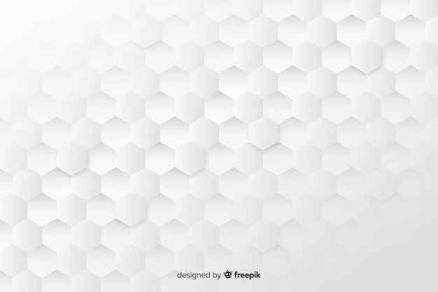 Geometric honeycomb shapes background in paper style Premium Vector
